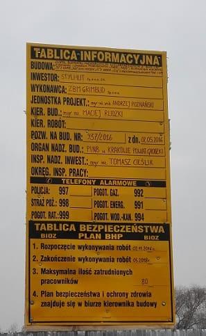 tablica informacyjna